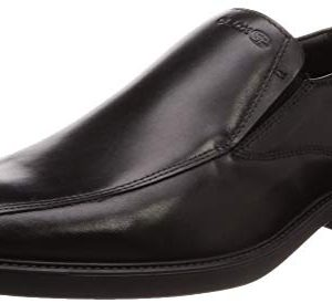 Geox Men's BRANDOLF 6 Bike Toe Plain Vamp Loafer