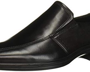 ECCO Men's Minneapolis Bike Toe Slip On Loafer, Black