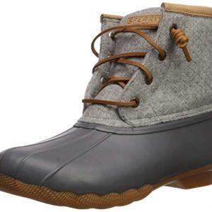 Sperry Womens Saltwater Emboss Wool Boots, Dark