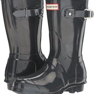 Hunter Women's Original Short Gloss Dark Slate Rain Boots