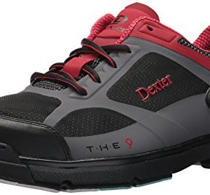 Dexter Men's The 9 HT Bowling Shoes, Black/Red/Grey