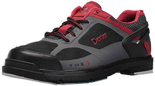 Dexter Men's The 9 HT Bowling Shoes, Black/Red/Grey