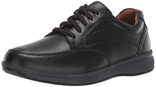 Florsheim Men's Lakes Moc Toe Walk Oxford Sneaker, Black Tumble