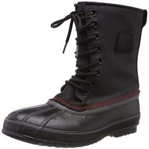 Sorel Men's Premium T CVS Snow Boot, Black, Sail Red