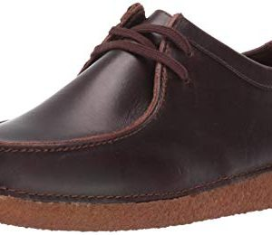 Clarks Men's Natalie Moccasin, Chestnut Leather