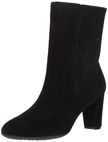 Aerosoles Women's Fifth AVE Mid Calf Boot, Black Suede