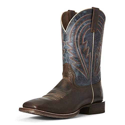 Ariat Men's Circuit Herd Boss Western Boot, Sweet Molasses/deep Azul