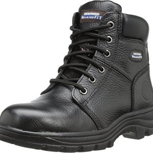 Skechers Women's Relaxed Fit Workshire Peril ST Steel Toe Boots Black