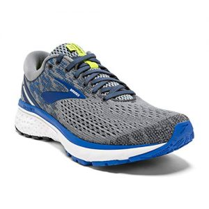 Brooks Mens Ghost Running Shoe - Grey/Blue/Silver
