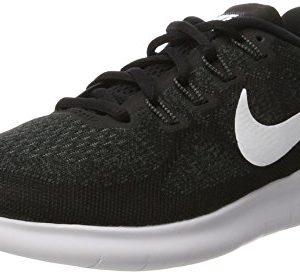 NIKE Men's Free RN Running Shoe, Black/White/Dark Grey/Anthracite