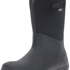 Bogs Men's Bozeman Tall Waterproof Insulated Rain Boot, Black