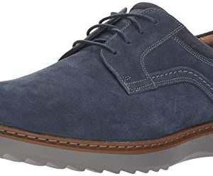CLARKS Men's Un Geo Lace Oxford, Navy Nubuck