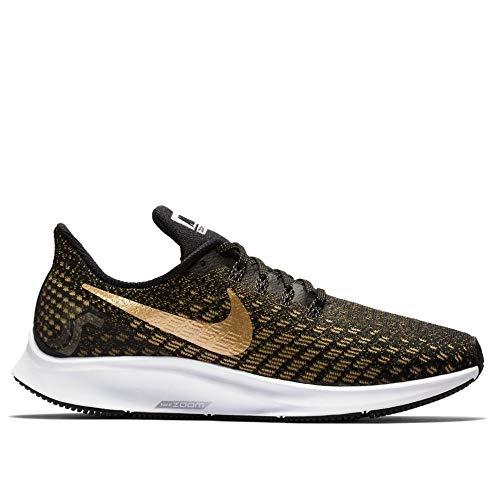 Nike Women's Zoom Pegasus Running Shoe Black/Metallic