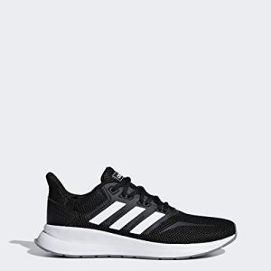 adidas Women's Falcon Running Shoe, Black/White/Grey