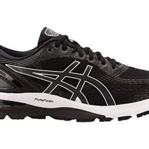 ASICS Men's Gel-Nimbus 21 Running Shoes, 11.5M, Black/Dark Grey