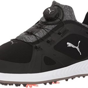 PUMA Golf Men's Ignite Pwradapt Disc Golf Shoe, Black/Black