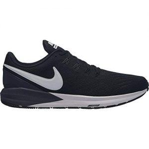 Nike Men's Air Zoom Structure 22 Running Shoe Black/White/Gridiron
