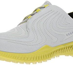 ECCO Men's S-Drive Golf Shoe, Concrete/Kiwi