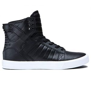 Supra Skytop Skate Shoe, Black/White