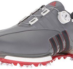 adidas Men's EQT Boa Golf Shoe, grey four/utility black/scarlet