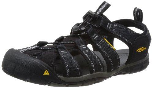 KEEN Men's Clearwater CNX Sandal,Black/Gargoyle