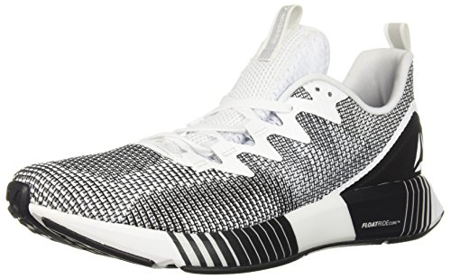 Reebok Men's Fusion Flexweave Running Shoe, White/Skull Grey/Black
