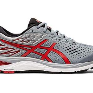 ASICS Men's Gel-Cumulus 21 Running Shoes, 7M, Sheet Rock/Speed RED