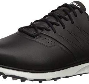 Skechers Men's Mojo Waterproof Golf Shoe, Black/Silver