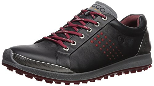 ECCO Men's Biom Hybrid Hydromax Golf Shoe, Black/Brick