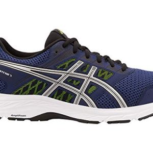 ASICS Men's Gel-Contend 5 Running Shoes, Indigo Blue/Silver