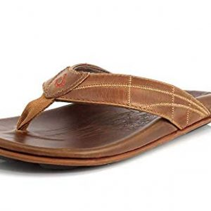 OLUKAI Men's Hokule'a Kia Sandals, Tan/Tan