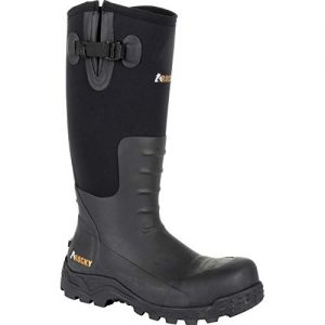 Rocky Sport Pro Steel Toe Rubber Work Boot Black