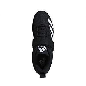 adidas Men's Powerlift Weightlifting Shoe, Black/White/Black