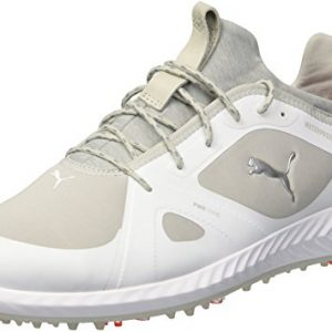 PUMA Golf Men's Ignite Pwradapt Golf Shoe, White/Gray Violet