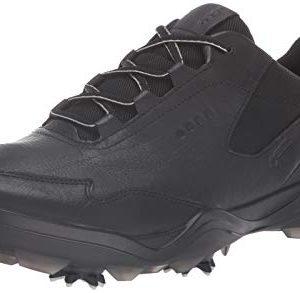 ECCO Men's Strike Gore-TEX Golf Shoe, Black Yak Leather