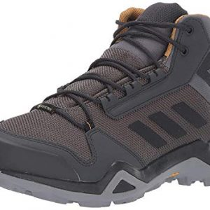 adidas outdoor Men's Terrex AX3 MID GTX Hiking Boot, Grey Five/Black/Mesa