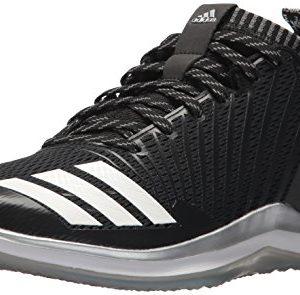 adidas Men's Icon Trainer Baseball Shoe, Black/White/Onix