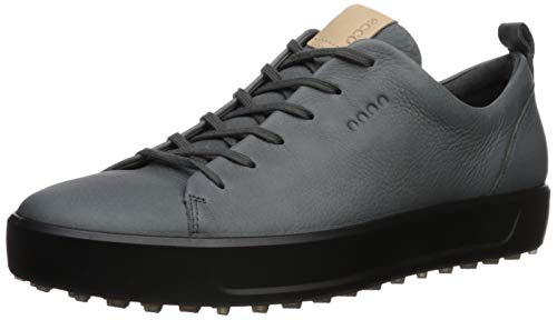 ECCO Men's Soft Hydromax Golf Shoe, Dark Shadow Nubuck
