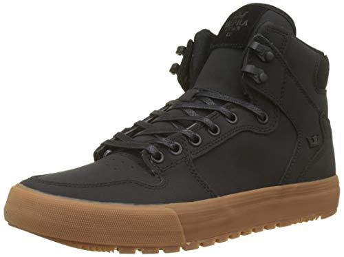 Supra Vaider CW Skate Shoe, Black/Black-Gum
