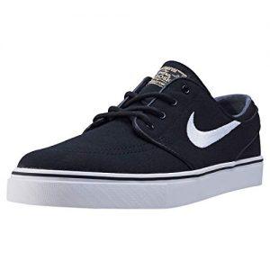 Nike Mens Zoom Stefan Janoski Cnvs Blk/white/gm Lght Skate Shoe