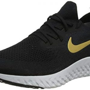 Nike Epic React Flyknit Women's Running Shoe Black/Metallic Gold-MTLC