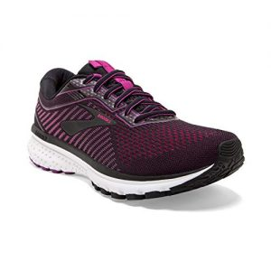 Brooks Womens Ghost Running Shoe - Black/Hollyhock/Pink