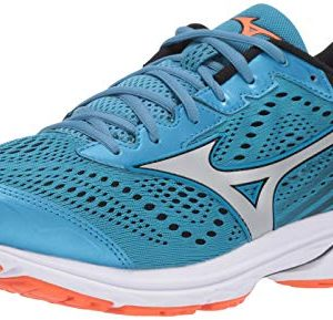 Mizuno Men's Wave Rider 22 Running Shoe, Blue Jay-Silver