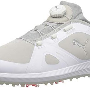 PUMA Golf Men's Ignite Pwradapt Disc Golf Shoe, White/Gray Violet