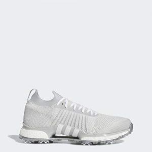 adidas Men's Primeknit Golf Shoe, Grey Two/White/Silver Metallic