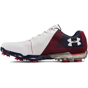 Under Armour Men's Spieth 2 Golf Shoe, White