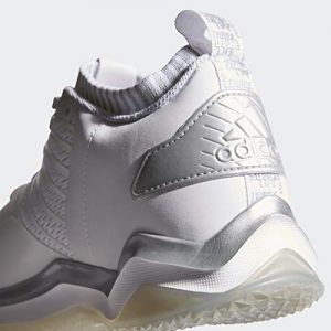 adidas Men's Icon Trainer Baseball Shoe, White/Metallic Silver/Light Grey