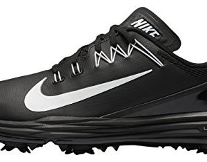 NIKE Men's Lunar Command 2 Golf Shoe, Black/White/Black