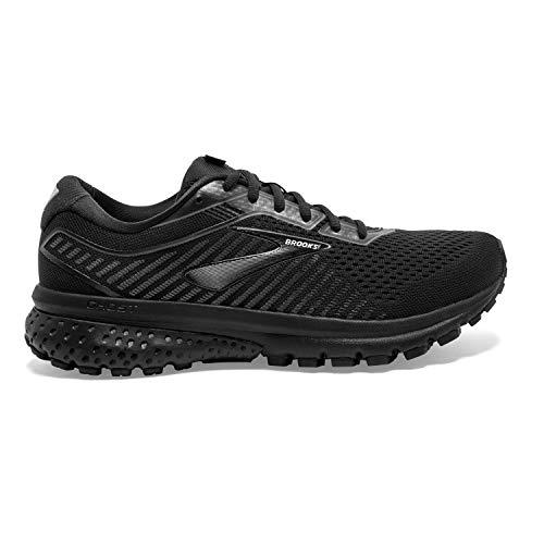 Brooks Mens Ghost 12 Running Shoe - Black/Grey Brooks Mens Ghost 12 Running Shoe - Black/Grey - D - 9.5.