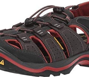 KEEN New Men's Rialto II H2 Sport Sandal Black/Brick Red
